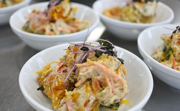 カボチャの豆乳ヨーグルトサラダ