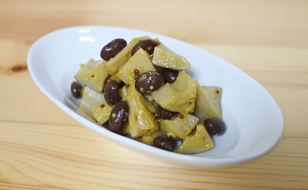 黒豆とレンコンのマスタード和え