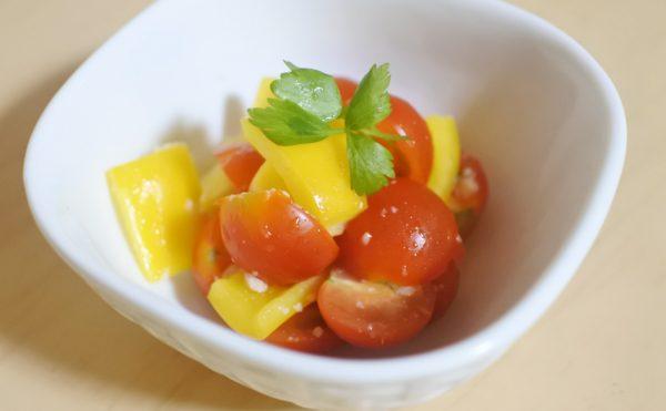 パプリカとミニトマトの塩麴マリネ